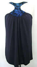 CURTSEY Navy /Metallic Blue Top With Design Size S, NWT $ 89.50