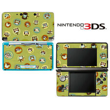 Vinyl Skin Decal Cover for Nintendo 3DS - Cute Owl Green Pattern
