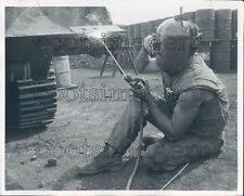 1968 US Navy Seabee Welding  Press Photo