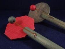 Ancien jouet lot de 2 hochets en bois tap-tap années 30