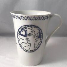 Vintage Jean Cocteau mug Made in Japan in 1950-60 SEYEI SETO tea cup art