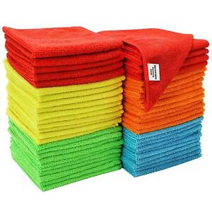 Pack of 3x 6x 12x Microfibre Home Kitchen Car Valeting Dusters Cleaning Cloths