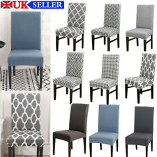 Dining Chair Seat Covers Slip Stretch Wedding Banquet Party Dinning Room Home UK