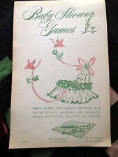 NEW UNUSED! BABY SHOWER 1954 Vintage Book Baby Shower Party GAMES