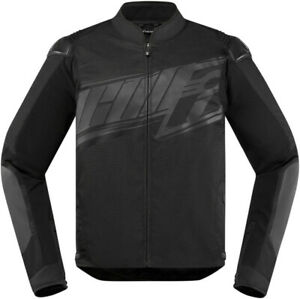 Icon Men's Overlord SB2 Prime Motorcycle Riding Jacket Stealth All Sizes