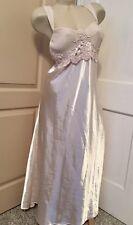 Delicates Sexy Sissy Long Slippery Satiny Ivory Glamorous Bridal Nightgown XL