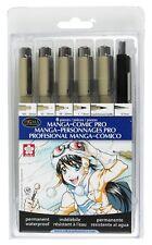 Sakura 50201 Manga-Comic Pro Pens Set of 6 Sketch Drawing Art Craft NEW