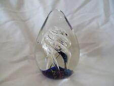 Beautiful Art Deco Art Glass Paperweight with Swirls