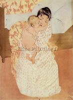 CASSATT MARY NUDE CHILD ARTIST PAINTING HANDMADE OIL CANVAS REPRO WALL ART DECO