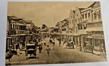 Vintage Barbados Postcard of Roebuck Street black & white True Photo Caribbean
