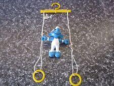 Smurfs Ring Gymnast Smurf Vintage Rare (e)