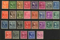 SCOTT 803-31 1939 1 - 50 CENT PRESIDENTIAL REGULAR ISSUES MNH OG VF CAT $32!