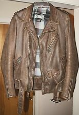 Schott NYC USA Perfecto Brown Cowhide Leather Vintage Jacket VN626 US Small