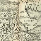 East North Africa Arabia Felix Egypt Nubia 1576 Petri rare woodcut old map