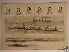 Scull Raceing, Saratoga Lake, Cornell, 1876, A.B. Frost