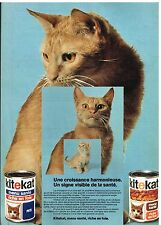 Publicité Advertising 1975 La patée pour chat Kitekat