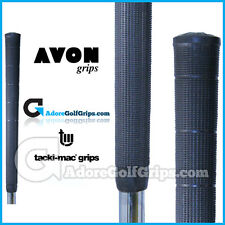 Avon Tacki-Mac Arthritic Serrated Golf Grips - Black  x 9