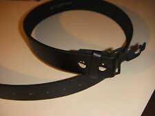 New Black snap on leather belt strap Large, without buckle.