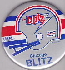 "VINTAGE 3 1/2""  PINBACK #D1-007 - SPORTS - FOOTBALL - USFL CHICAGO BLITZ"