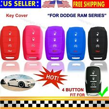 4B Silicone Cover Entry Fob Case Skin Holder for Dodge Ram 1500 2019 2020 Key