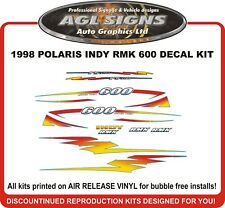 1998 POLARIS INDY RMK 600 Reproduction Decal Kit  graphics stickers 700 also