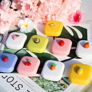 Color Container Holder Fruit Mirror Cover Contact Lens Case Storage Soaking Box