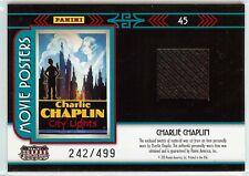 2011 Americana Charlie Chaplin City Lights Personally Worn Relic Card #45 /499