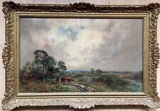 John Falconar Slater(1857-1937) Oil Painting On Canvas Signed gilt frame