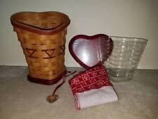 Longaberger 2008 Sweetheart True Love Valentines Heart Basket Combo New Retired