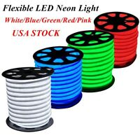 150' LED Neon Rope Light Flex Tube Holiday Party Wedding Home Decor Outdoor USA