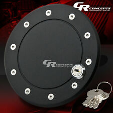 BLACK BOLT-ON GAS TANK DOOR COVER CAP+LOCK+KEY 09-11 FOR FORD F150 4.2/4.6/5.4L