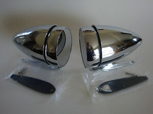 1965 1966 1967 1968 Ford Mustang Bullet Style Racing Mirrors Left & Right Pair