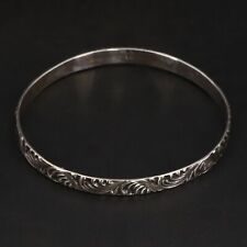 "Vtg Sterling Silver - Jamaica Filigree Ornate 7.75"" Bangle Bracelet - 11.5g"