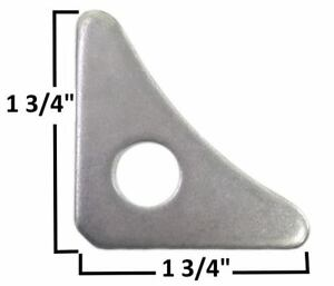 """Chassis Mounting Gusset 1/8"""" Thick Steel Roll Cage Gussets Weldable 1/2"""" hole"""