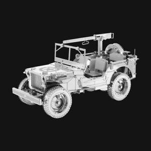Metal Earth ICONX Willys MB Jeep DIY laser cut 3D steel model kit