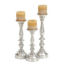 Deco 79 30919 Aluminium Candle Holder 14 by 12 by 10-Inch Set of 3 NEW