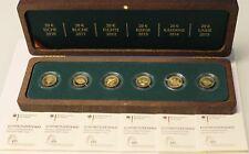 6 x 20 Euro Goldmünzen Deutscher Wald 2010 - 2015 Komplettsatz mit Etui/Zertifi.