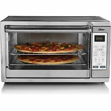 """Oster XL Convection Toaster Oven Countertop Fits 2 16"""" Pizzas 9 x 13 Pan Silver"""