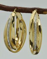 REAL 10k Solid Yellow Gold hoop Earrings 30mm 3.4g