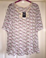 Next Semi Sheer 'Cars' Top, Size 20 - Gorgeous - BNWT!