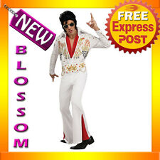C299 Elvis Presley Rock and Roll Licensed 50s Rock Star DELUXE Adult Costume
