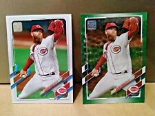 2021 Topps Series 1 Archie Bradley #52 Green Ice Parallel & Base Cards - Reds