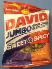 DAVID JUMBO SUNFLOWER SEEDS SWEET & SPICY FLAVOR  Resealable Bag 5.25 Oz