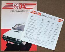 FSO Polonez Prima Brochure and Price List - in English