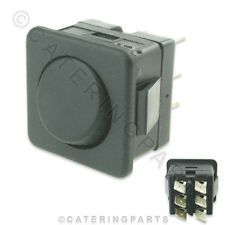 CLASSIC CLASSEQ 7.12.4/7A BLACK MOMENTARY DRAIN SWITCH 240V 25 x 25mm DISHWASHER
