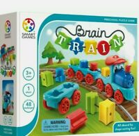 Brain Train Board Game.Smart Games. A Puzzle Game & Brain Game + Toy Train.New