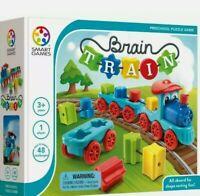 Brain Train Board Game.Smart Games. A Puzzle Game & Brain Game + Toy Train.New