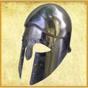FULL DISPLAY Wearable Greek Corinthian Helmet Medieval Warrior Armor Battle Gear