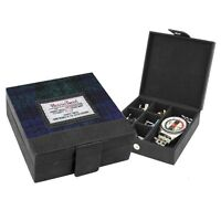 Harris Tweed Cufflink & Watch Box Bragar Black Watch Tartan British Bag Co Boxed