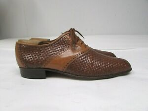 BRUNO MAGLI SHOES Wing tip brogue dark brown leather luxury Italy 41 us 8
